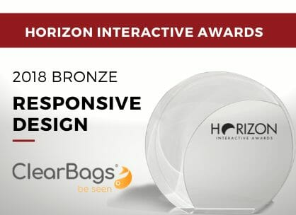 Responsive Design - 2018 Bronze - ClearBags